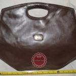 B12:Vintage leather bag กระเป๋าหนังแท้ทรงหกเหลี่ยมใบใหญ่/กระเป๋าใส่เอกสาร/กระเป๋าวินเทจ