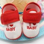 รองเท้าเด็กอ่อน I love Baby สีแดง Size 11-13