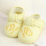 รองเท้าเด็กอ่อน love baby สีเหลือง Size 11-13