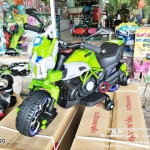 AB3762G รถมอเตอร์ไซค์หุ่นยนต์ 2 มอเตอร์สีเขียว