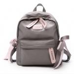 [ พร้อมส่ง ] - กระเป๋าเป้แฟชั่น สีเทา สุดเท่ ดีไซน์สวยเก๋ไม่ซ้ำใคร สวยสุดมั่น เหมาะกับสาว ๆ ที่ชอบกระเป๋าเป้น้ำหนักเบาๆ