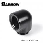 ข้องอ 90 Barrow Female / male สีดำ