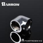 ข้องอ 90 Barrow Female / Female สีเงิน