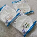 จานหลุมเด็ก 3 ช่อง+ช้อนส้อม โดเรมอน พื้นลายสก็อต คละสี Doraemon Feeding Plate Set