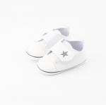 รองเท้าเด็กอ่อน เมจิกเทป รูปดาว สไตล์สปอต สีขาว