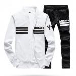 ชุดเสื้อแจ็คเก็ต-กางเกงขายาว : สีขาว-ดำ รุ่น KOMA ST0002