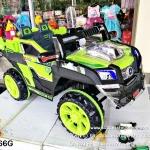 รถแบตเตอรี่ไฟฟ้าเด็กนั่ง รถจิ๊ฟก่อสร้างสีเขียว 2 มอเตอร์