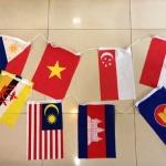 ธงอาเซียนขนาดเล็ก ธงราวอาเซียน รวม 11 ผืน