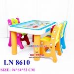 โต๊ะเขียนหนังสือ+เก้าอี้ 3 ตัว มี3สี (เขียว/ชมพู/ส้ม)