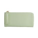 [ พร้อมส่ง ] - กระเป๋าสตางค์แฟชั่น สีเขียวอ่อน ซิปรอบปิดตัว L ใบยาว ดีไซน์สวยคลาสสิค ช่องเยอะ งานสวย น่าใช้มากๆค่ะ