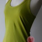 T92:2nd hand top เสื้อกล้ามสีเขียวสดใส