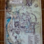 แผนที่ปราสาทฮอกวอร์ตส์ - Hogwarts castle Map (งานผ้าใบ)