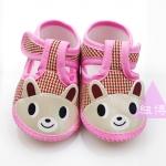 รองเท้าเด็กอ่อน ลายหมี สีชมพู