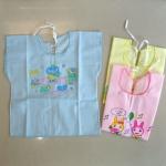 [แพค 3 ตัว] เสื้อเด็กทารกแรกเกิด ป้ายหลัง ผ้าป่าน