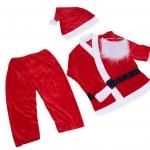 ชุดเซทซานต้าเด็กโต พร้อมหมวก สายเข็มขัด และหนวดปลอม