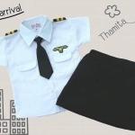 ชุดแฟนซีอาชีพในฝัน คุณหนูนักบินเด็กหญิง Size S-L