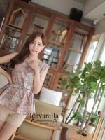 Sweet Floral blouse ( belt + set )