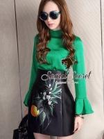 Glamorous Fashionista Blouse&Skirt Set by Seoul SECRETS