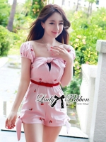 Lady Ribbon's Made Lady Jessey Sweet and Sexy Cherry Embroidered Jumpsuit สำเนา