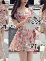 Lady Rosie Sweet Flowery Chiffon Mini Dress