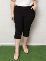 กางเกงสกินนี่ขาห้าส่วนสีดำ