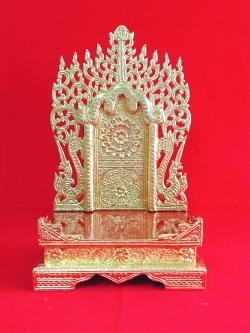 แท่นพระพม่า 10 นิ้ว (ปิดทอง)