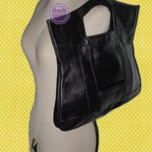 ขายแล้วค่ะ B56: Clutch leather bag กระเป๋าคลัทช์หนังแท้สีดำ ปรับเป็นกระเป๋าถือได้&#x2764