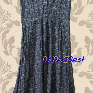 ขายแล้วค่ะ D12:Vintage dress เดรสวินเทจ ผ้าเบานิ่มใส่สบาย ลายดอกไม้เล็กๆ&#x2764