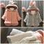 เสื้อกันหนาวขนปุกปุย หมวกมีหูกระต่ายน่ารัก สไตล์เกาหลี thumbnail 1
