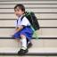 ( มาตราฐาน Muangdek ) กางเกงนักเรียนสีนำ้เงินสด เอวยางยืดซิปหน้า thumbnail 1