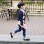 รองเท้าคัทชูเด็กผูกเชือกหนังแก้วสีขาวดำฉลุลาย สไตล์อังกฤษ Size 28-37 thumbnail 7