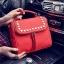 [ ลดราคา ] - กระเป๋าแฟชั่น นำเข้าสไตล์เกาหลี สีแดงโดดเด่น ปักหมุดขอบ ทรง Retro เก๋ๆ ดีไซน์สวยเท่ๆ แบบเก๋มากๆ เหมาะสำหรับสาวๆ ชอบงานดีไซน์ ล้ำๆ thumbnail 7