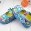 รองเท้าคัชชูผ้าหุ้มส้นเด็กหญิง ลายกุหลาบ สีฟ้า/ชมพู Size 16- 21 thumbnail 5