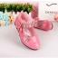 รองเท้าคัชชูเด็กหญิง หนังแก้วสีชมพู สายเพชร สวยหรู Size 26-30 thumbnail 10