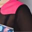 ชุดเดรสทำงานสาวอวบแขนสั้นผ้าโพลีเอสเตอร์สีชมพูตัดต่อลายพลางช่วงหน้าอก thumbnail 6