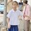( มาตราฐาน Muangdek ) เสื้อนักเรียนหญิง คอบัว แขนเรียบ กระเป๋าล่าง thumbnail 1