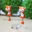 ต่างหูดินปั้น สุนัขจิ้งจอกสีส้ม Cutie orang fox thumbnail 2