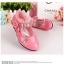 รองเท้าคัชชูเด็กหญิง หนังแก้วสีชมพู สายเพชร สวยหรู Size 26-30 thumbnail 7