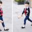 รองเท้าคัทชูเด็กผูกเชือกหนังแก้วสีขาวดำฉลุลาย สไตล์อังกฤษ Size 28-37 thumbnail 8