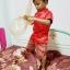 ชุดไทยเด็กชายแขนสั้น โจงกระเบน ผ้ามัน พร้อมผ้าคาดเอว Size 2-14 thumbnail 6