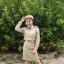( พรีเมี่ยม ตราเขลางค์เมืองเด็ก ) ชุดกากี ชุดข้าราชการสีกากี คอเชิ้ต แขนยาว สำหรับข้าราชการหญิง thumbnail 3