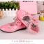 รองเท้าคัชชูเด็กหญิง หนังแก้วสีชมพู สายเพชร สวยหรู Size 26-30 thumbnail 8