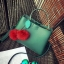 [ Pre-Order ] - กระเป๋าแฟชั่น ถือ/สะพาย สีเขียวเมทาลิค ทรงสี่เหลี่ยมขนาดกระทัดรัด ดีไซน์สวยเรียบหรู ดูดี งานหนังคุณภาพ คุ้มค่าการใข้งาน thumbnail 8