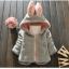 เสื้อกันหนาวขนปุกปุย หมวกมีหูกระต่ายน่ารัก สไตล์เกาหลี thumbnail 2