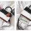 [ พร้อมส่ง ] - กระเป๋าถือ/สะพาย สีทูโทนขาวดำ ทรงกล่องขนาดกระทัดรัด ห้อยป้ายเก๋ๆ ดีไซน์สวยเรียบหรู ดูดี งานหนังคุณภาพดี ช่องใส่ของ 3 ช่อง thumbnail 32