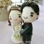 พวงกุญแจดินปั้นเจ้าสาวเจ้าบ่าว ชุดแต่งงาน ของขวัญแต่งงาน thumbnail 4