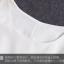 SET 2 ชิ้น ชุดเดรสไซส์ใหญ่แขนกุดผ้าชีฟองสีขาวตัดต่อผ้าตาข่ายช่วงกระโปรง + เสื้อคลุมแขนสามส่วนผ้าตาข่ายสีขาว thumbnail 5