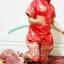 ชุดไทยเด็กชายแขนสั้น โจงกระเบน ผ้ามัน พร้อมผ้าคาดเอว Size 2-14 thumbnail 7