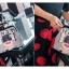 [ Pre-Order ] - กระเป๋าถือ/สะพาย สีทูโทนฟ้าดำ ปริ้นลายแฟชั่นเก๋ๆ ทรงเรโทร กล่องปากเหล็กงับๆ ดีไซน์สวยเรียบหรู ดูดี งานหนังคุณภาพดี ช่องใส่ของจุของเยอะมาก thumbnail 9