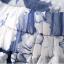 SET 2 ชิ้น เสื้อผ้าไซส์ใหญ่แขนสั้นผ้าชีฟองสีขาวตัดต่อลูกไม้ช่วงบนดีเทลแต่งมุกเล็กๆ + กระโปรงผ้าแก้วสีน้ำเงินพิมพ์ลายดอกไม้ thumbnail 6